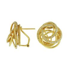 Ladies Diamond Earring in 14K Yellow Gold (TCW  1.25).