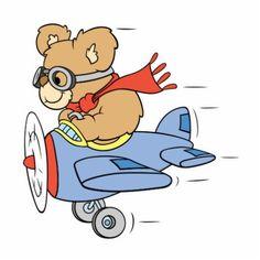 Silly Pilot Bear Photo Cut Out