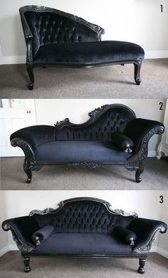 Victorian Couches Check us out on Fb- Unique Intuitions alles für Ihren Stil - www.de Need home decorating ideas? Darken up your home and get wicked ideas with the most awesome Gothic, Steampunk, Horror, and Victorian Furniture around.