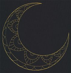 Talisman - Crescent Moon   Urban Threads: Unique and Awesome Embroidery Designs