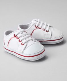 For Giulia to wear to Gian's games. Switch the laces with red ribbon.