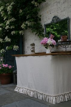 Potting Table turned Outdoor Server