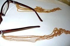 2 Gliederketten gold Anhänger für Brille 32cm 502 von MeinSchmuck