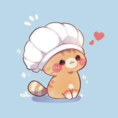 Cute Animal Drawings Kawaii, Cute Little Drawings, Kawaii Art, Cute Drawings, Cute Pastel Wallpaper, Kawaii Wallpaper, Kitten Drawing, Image Chat, Cute Doodles