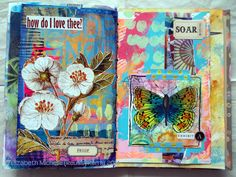 #papercrafting #artjournaling: Finishing Up the Scraps Journal by Michelle Remy. All her work and blog are truly inspiring