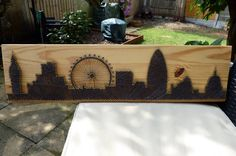 A personal favourite from my Etsy shop https://www.etsy.com/uk/listing/519849248/london-skyline-string-art