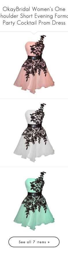 """""""OkayBridal Women's One Shoulder Short Evening Formal Party Cocktail Prom Dress"""" by qwertyuiop-sparta ❤ liked on Polyvore featuring dresses, party dresses, formal dresses, short evening dresses, formal party dresses, short party dresses, cocktail party dress, short formal dresses, one shoulder cocktail dress and formal cocktail dresses"""