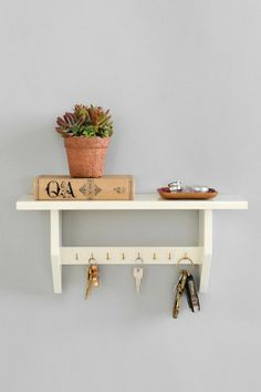 Plum & Bow White Key Holder Shelf