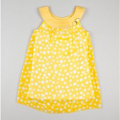 Very cute dotted dress.  I love the yellow!!!
