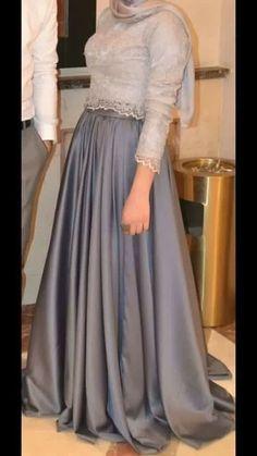 PINTEREST: @MUSKAZJAHAN - Hijab Evening Dress, Hijab Dress Party, Hijab Style Dress, Hijab Wedding Dresses, Modest Dresses, Simple Dresses, Cheap Dresses, Pretty Dresses, Evening Dresses