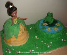 Homemade Princess and the Frog Cake... This website is the Pinterest of princess cake ideas