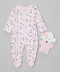 Another great find on #zulily! Pink Poodle Footie & Puppet - Infant by Duck Duck Goose #zulilyfinds
