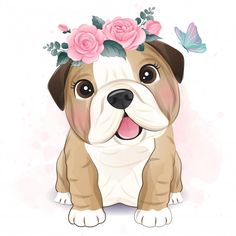 Cute Wild Animals, Cute Cartoon Animals, Baby Animals, Cute Animals To Draw, Baby Animal Drawings, Cute Drawings, Cartoon Panda, Cute Bulldogs, Cute Animal Illustration