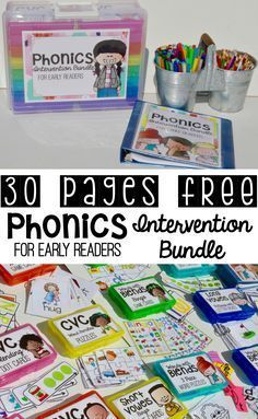 Teach Your Child to Read Phonics - phonics activities - phonics games - phonics kindergarten - phonics interventions Give Your Child a Head Start, and.Pave the Way for a Bright, Successful Future. Teaching Phonics, Kindergarten Reading, Kindergarten Classroom, Teaching Reading, Reading Lessons, Reading Intervention Activities, Guided Reading Activities, Classroom Decor, Montessori Elementary