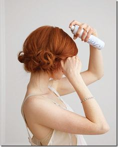 I've done this one multiple times! Absolutely beautiful, fun, with slightly messy look....  Step by step photo tutorial on Martha Stewart's Wedding site: http://www.marthastewartweddings.com/229001/diy-wedding-updos/@center/272465/get-wedding-ready-guide#slide_17