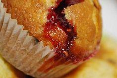 Muffins à la confiture de fraises