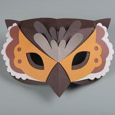 The Gentle Journal Paper Owls, Paper Mask, Cat Mask, First Halloween, Bat Signal, Mask For Kids, Superhero Logos, Paper Cutting, Diy For Kids
