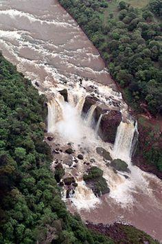Saltos del Monday located in Presidente Franco District, Alto Parana Department, Paraguay