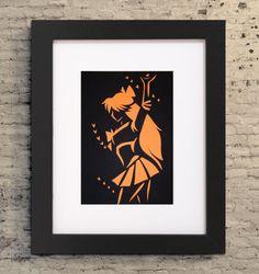 5x7 Sailor Venus Wall Art Sailor Venus Cutout Paper