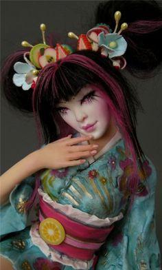 Harajuku Cupcake Geisha - Nicole West Fantasy Art