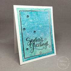 Mel's Card Corner | Season's Greetings Watercolor