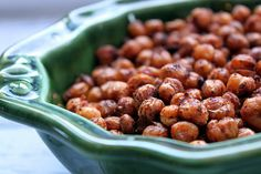 Spice roasted crunchy Chickpeas. Healthy snack. Like corn nuts.
