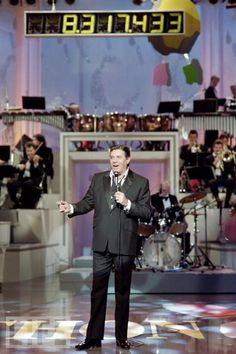 Jerry Lewis Telethon, hosted by Jerry Lewis every Labor Day for decades (1966 - 2010) my parents would watch this every year.