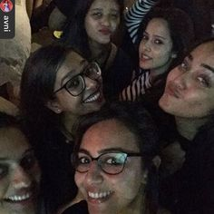 O wakhra swag niiiiiiiiiiii  @avni @shrushtid @shailisutaria @sanjnas @kiranthapar #kudiyan's #nightout @radiobarmumbai by nushrat_bharucha