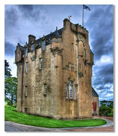 Crathes Castle, Aberdeenshire, Scotland-the thing I notice is not many windows down low. Always vigilant!