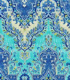 Waverly Upholstery Fabric-Seblist Prussian