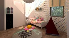 camera-copii-fete Decor, Interior Design, Furniture, Bed, Home, Interior, Studio, Toddler Bed, Home Decor