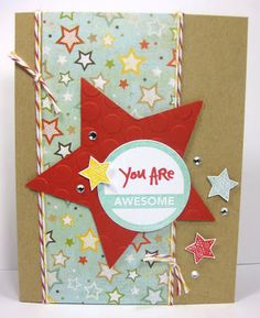 Another fun card by Kris Chirhart! Love how she used the Favorite Circles by Ali Edwards Studio AE stamp set here. Really looks great with those stars.