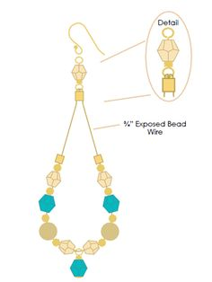 Gold Forest Earrings | Free Jewelry Patterns | Prima Bead