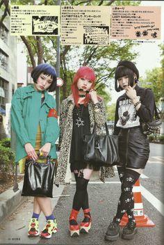 FabFashion in Tokyo Japan Street Fashion, Tokyo Street Style, Tokyo Fashion, Harajuku Fashion, Punk Fashion, Alternative Outfits, Alternative Fashion, Visual Kei, Estilo Harajuku