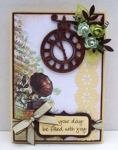 Best of Betsy's - Kaisercraft's Pickled Pear collection General Crafts, Pretty Cards, Craft Items, Vintage Cards, Embellishments, Birthday Cards, Projects To Try, Card Making, Paper Crafts