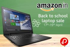Amazon Back To School #LaptopSale is beings big Discounts on Bestsellers Laptops. Including top brands like HP, Dell, Lenovo, Acer, Apple, Asus, Microsoft and more.  http://www.paisebachaoindia.com/back-to-school-laptop-sale-17th-19th-april-amazon/