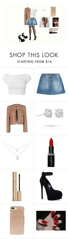 """outfit"" by brookefisher-39 on Polyvore featuring Helmut Lang, 7 For All Mankind, Balmain, Masquerade, Smashbox, Stila, Casadei, Kate Spade, Love Couture and Avenue"
