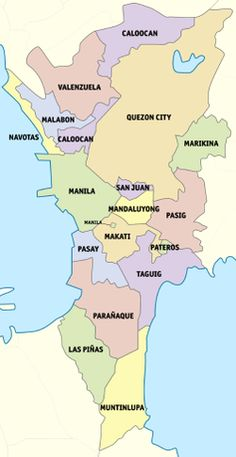 Political map of Metro Manila