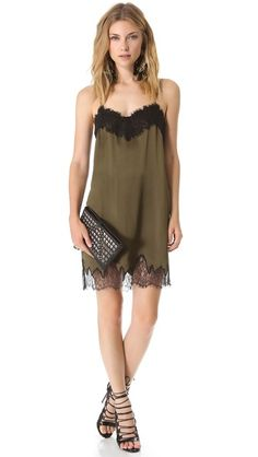 Haute Hippie Lace Slip Dress...dress is cool, but I LUV those shoes!