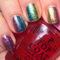Lacquistry Amazeballs Extra Fine and OPI Sheer Tints Nail Art! - Lacquered Lover