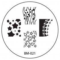 Series 1 REVISION Nail Plate BM021 - Stars + Arrows