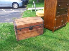 Solid Wood Domed Top Trunk - PICKUP ONLY - TomeTraders.com