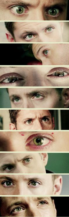[GIFSET] The green eyes that mesmerize. Jensen as #DeanWinchester