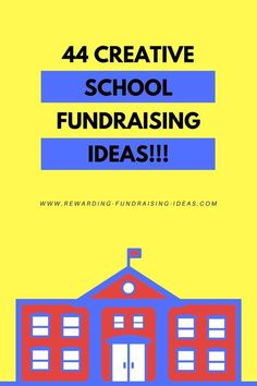 : 44 incredibly creative fundraising ideas for schools .: 44 Incredible creative fundraising ideas for schools . that could use any other reason. Pta School, School Auction, School Fundraisers, School Fair, Sunday School, Middle School, High School, Fundraising Activities, Fundraising Events