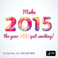 Quit Tip: Tell your friends & family that today is your quit day. Ask them for support these first few days and weeks. Making a New Year's resolution to #quit #smoking is a great way to start the year off right.