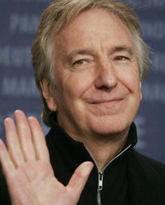 Alan Rickman taken from photocall at Berlinale - 09 February 2006 Alan Rickman Severus Snape, Smile And Wave, Just Smile, Alan Rickman Always, Severus Rogue, Harry Potter Cast, Best Actor, Portrait, Gorgeous Men