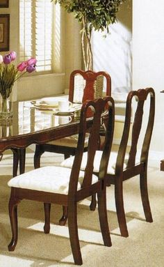 Set of 2 Dining Chairs - Queen Anne S... (bestseller)