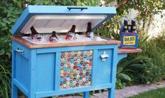 Great while we are working the yard!  DIY Cooler! Free Plans at Ana-White.com...this one is even better & bigger!!! love it