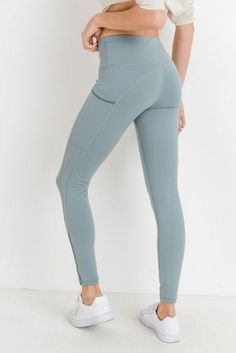 831b40e963 Dusty Blue High Waisted Full Length Legging - Ari K Athletics