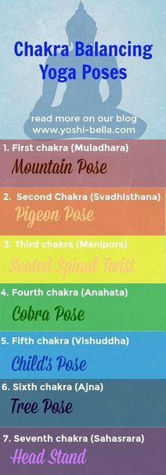 Read more on our blog - Yoga Poses to Balance Your Chakras   How to balance your chakra   Yoga poses for energy balance   Yoga for chakra